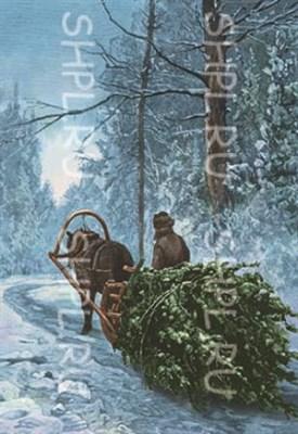 """Открытка """"В город на Рождество"""" - фото 4681"""